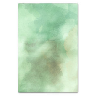 Tadelloser grüner Aquarell-Designer-modischer Seidenpapier