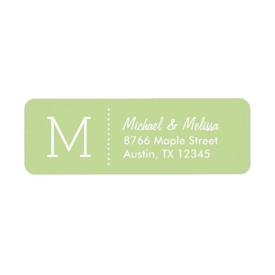 Tadelloses grünes kundenspezifisches Monogramm Rücksendeetiketten