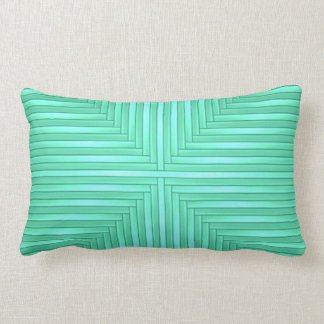 Tadelloses grünes modernes elegantes stilvolles lendenkissen