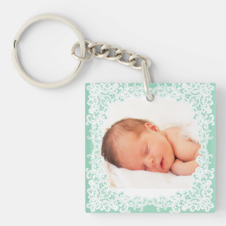 Tadelloses kundenspezifisches keychain Foto der Beidseitiger Quadratischer Acryl Schlüsselanhänger