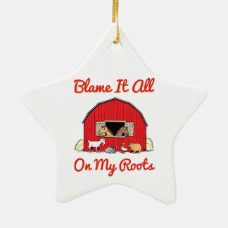 Tadeln Sie es aller auf meinem Wurzel-Farmmädchen Keramik Ornament