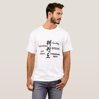 Taekwondo-Lehren mit Hangeul-Charakteren T-Shirt