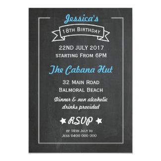 Tafel-Art-Geburtstags-Einladung 12,7 X 17,8 Cm Einladungskarte