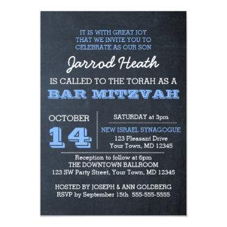 Tafel-blaue Bar Mitzvah Einladung kein Logo