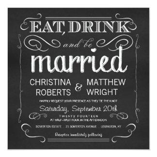 Tafel essen Getränk ist verheiratete Einladungen