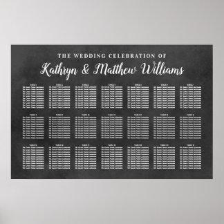 Tafel-Feier des Hochzeits-Sitzplatz-Diagramm-| Poster