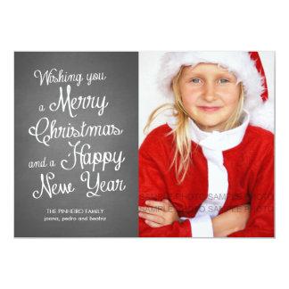 Tafel-Feiertags-Foto-Weihnachten wünscht Koralle 12,7 X 17,8 Cm Einladungskarte