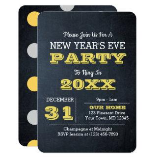 Tafel-goldene Silvester-Party Einladung
