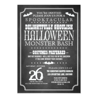 Tafel-Halloween-Kostüm-Party 12,7 X 17,8 Cm Einladungskarte