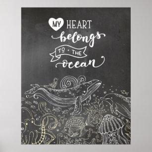 Tafel-Plakat der Ozean-Liebe-  Poster
