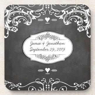 Tafel-Typografie-Hochzeiten Getränkeuntersetzer