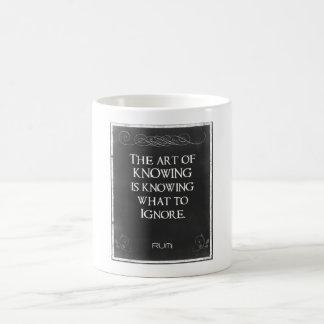 Tafel-Typografie mit einem inspirierend Zitat Tasse