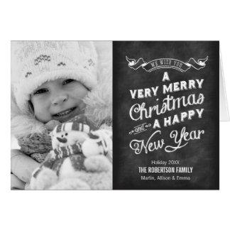 Tafel-Typografie-WeihnachtsFoto Karte
