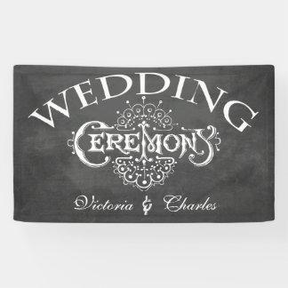 Tafel-Vintage Typografie-Hochzeit Banner