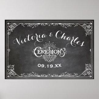 Tafel-Vintage Typografie-Hochzeit Poster