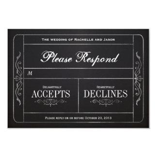 Tafel-Vintages Hochzeits-Karte UAWG 8,9 X 12,7 Cm Einladungskarte