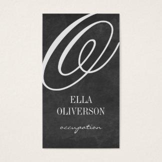 Tafel-Visitenkarte-Schablone Monogramm Visitenkarten