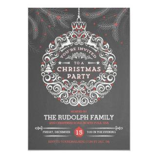 Tafel-WeihnachtsParty-Verzierungs-Einladung 12,7 X 17,8 Cm Einladungskarte