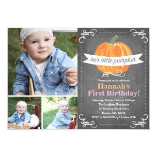 Tafel wenig Kürbis-Geburtstag 12,7 X 17,8 Cm Einladungskarte