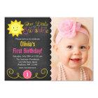 Tafel wenig Sonnenschein-Rosa-Gelb-Geburtstag Karte