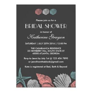 Tafelseashells-Einladung für Strand-Hochzeit 12,7 X 17,8 Cm Einladungskarte