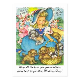 Tag der entzückenden der Vintage Mammas Postkarte