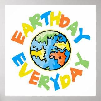 Tag der Erde jeden Tag Poster