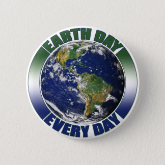 Tag der Erde jeden Tagesplaneten-Erdgraphik Runder Button 5,7 Cm
