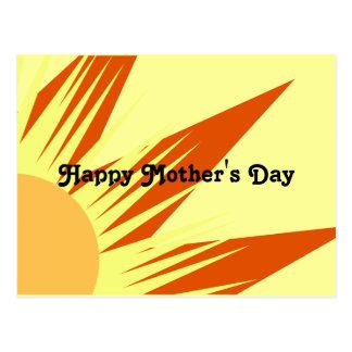 Tag der Sonnenschein-der glückliche Mutter Postkarte
