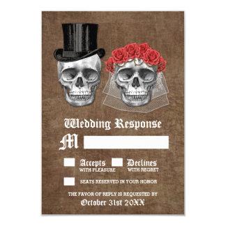 Tag der toten Schädel-Paar-Hochzeit UAWG Karten 8,9 X 12,7 Cm Einladungskarte
