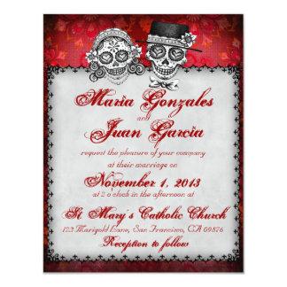 Tag der toten Zuckerschädel-Hochzeits-Einladungen 10,8 X 14 Cm Einladungskarte