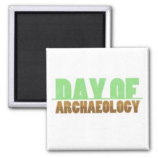 Tag des Archäologie-Quadrat-Magneten Quadratischer Magnet