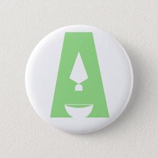 "Tag des Logoknopfes der Archäologie ""A"" Runder Button 5,7 Cm"