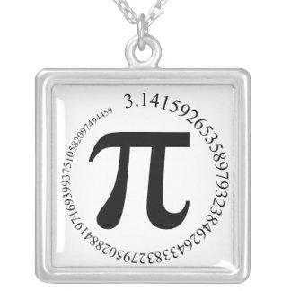 Tag PUs (π) Halskette Mit Quadratischem Anhänger