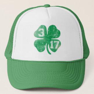 Tag St. Patricks des Kleeblatt-3/17 Truckerkappe