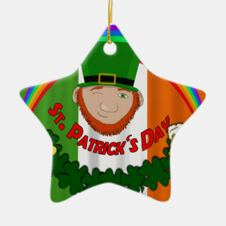 Tag St. Patricks Keramik Stern-Ornament