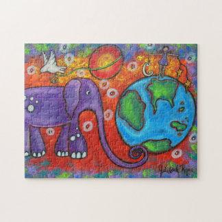Tag und Nacht auf Planeten-Erdpuzzlespiel Puzzle