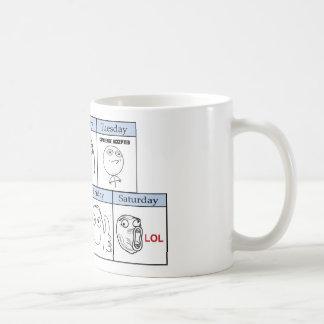 Tage der Woche Memes Tee Tassen