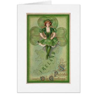 Tagesgrüße Irlands St Patrick - Vintag Grußkarte