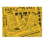 Tägliches Planeten-Muster - Gelb Postkarten