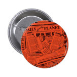 Tägliches Planeten-Muster - Rot Button