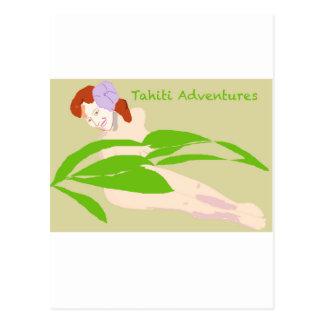 Tahiti-Frau Postkarte