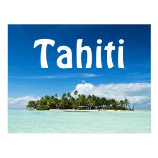 Tahiti-Inseltextpostkarte Postkarten