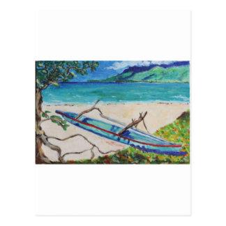 Tahiti Outriggger Postkarte