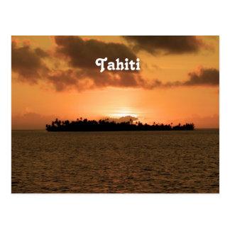 Tahiti-Sonnenuntergang Postkarte