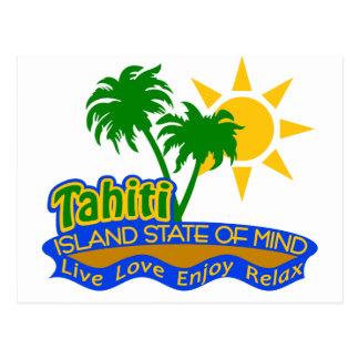 Tahiti-Staat der Sinnespostkarte Postkarten