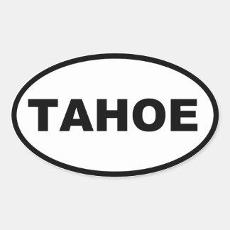 TAHOE OVALER AUFKLEBER
