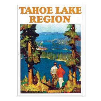 Tahoe See-Regions-Vintage Reise-Plakat-Grafik Postkarte