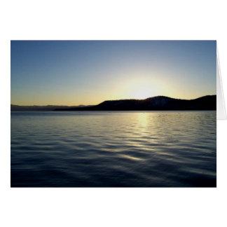 Tahoe Sonnenuntergang Grußkarte