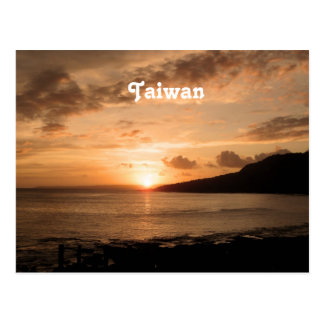Taiwan-Sonnenuntergang Postkarte